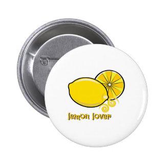 Lemon Lover 2 Inch Round Button