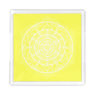 Lemon Mandala Acrylic Tray