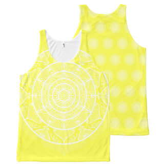 Lemon Mandala All-Over-Print Tank Top