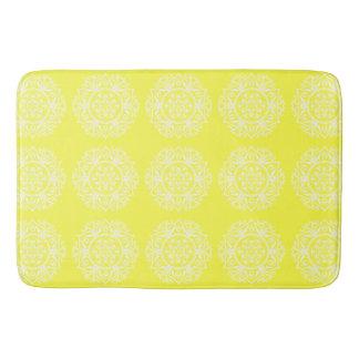 Lemon Mandala Bath Mat