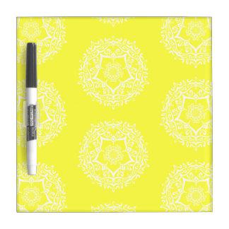 Lemon Mandala Dry Erase Board