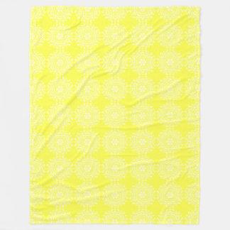 Lemon Mandala Fleece Blanket