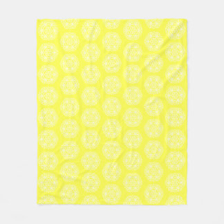 Lemon Mandala Fleece Blanket