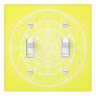 Lemon Mandala Light Switch Cover