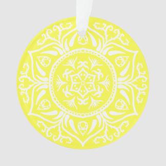 Lemon Mandala Ornament