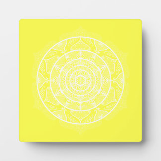 Lemon Mandala Plaque