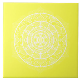 Lemon Mandala Tile