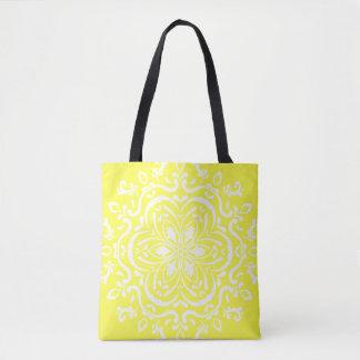 Lemon Mandala Tote Bag