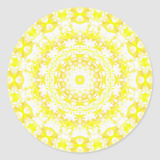 Lemon Meringue Kaleidoscope Classic Round Sticker