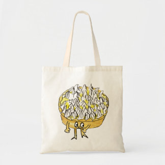 Lemon Meringue Pie Funny Quirky watercolour Art Tote Bag