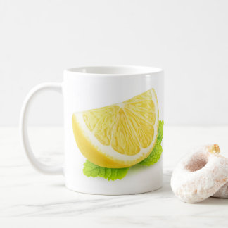 Lemon & mint coffee mug