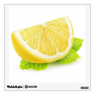 Lemon & mint wall sticker