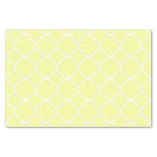 Lemon Moroccan Quatrefoil Tissue Paper