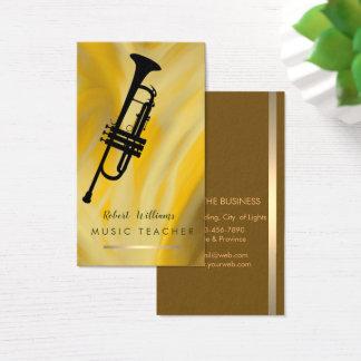 Lemon Music Trumpet Instrument  Band Musician Business Card