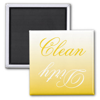 Lemon Ombre Dishwasher Clean/Dirty Magnet