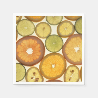 Lemon, Orange and Lime Slices - Yellow Green Disposable Napkins