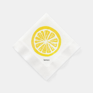 Lemon Paper Cocktail Napkins Disposable Napkin
