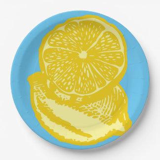 Lemon paper Plates 9 Inch Paper Plate