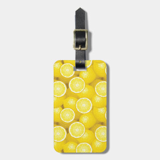 Lemon Pattern 2 Luggage Tag