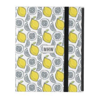 Lemon Pattern custom monogram device cases