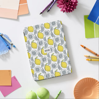 Lemon Pattern custom monogram device covers iPad Air Cover