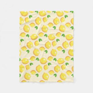 Lemon Pattern Fleece Blanket