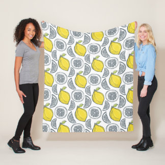 Lemon Pattern fleece blankets