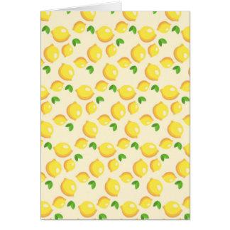 Lemon Pattern Greeting Card