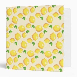 Lemon Pattern Recipe Binder