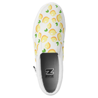 Lemon Pattern Yellow Fruit Citrus Slip On Sneaker
