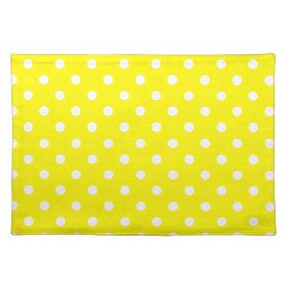 Lemon Polkadot Pattern Placemat