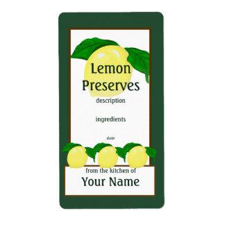 Lemon Preserves Label Shipping Label