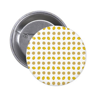 Lemon Print 2 Inch Round Button