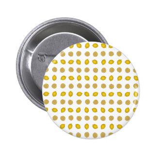 Lemon Print 2 Inch Round Button