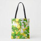 Lemon Print Handbag on white