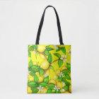 Lemon Print Handbag on yellow