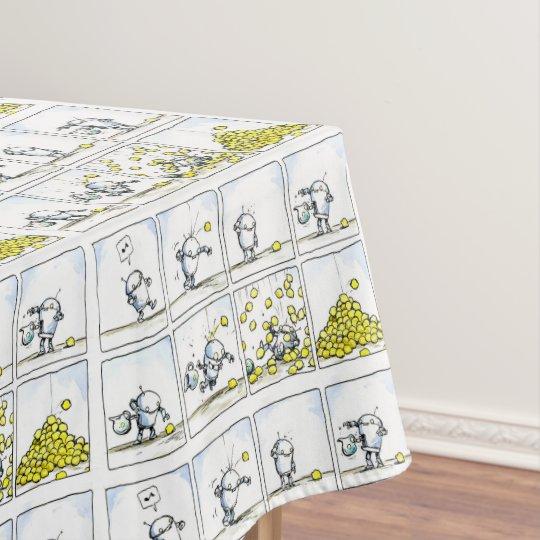 Lemon Robat Comic Strip  anime Art print Tablecloth