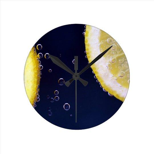 Lemon Round Clock