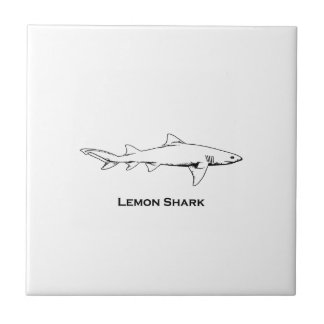 Lemon Shark Illustration Tile