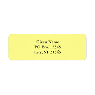 Lemon Sherbet Return Address Label
