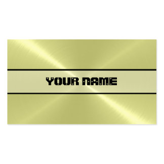 Lemon Shiny Stainless Steel Metal Pack Of Standard Business Cards