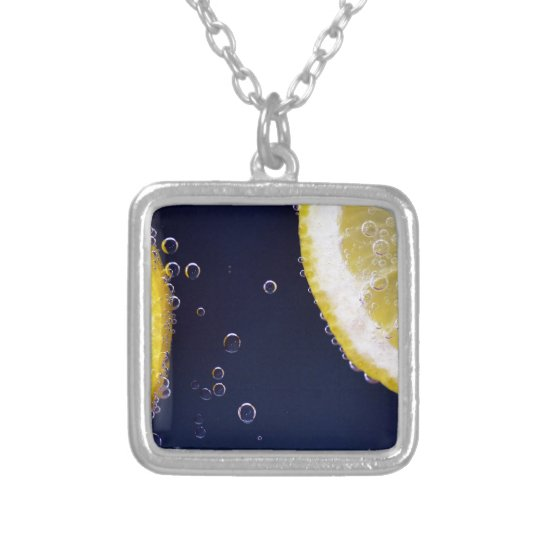 Lemon Silver Plated Necklace