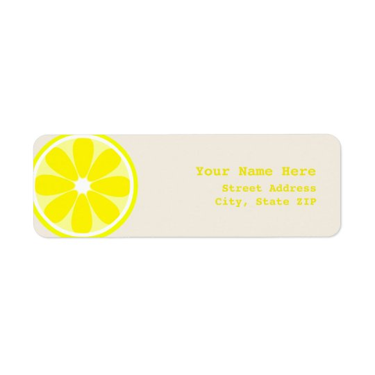 Lemon Slice Address Label