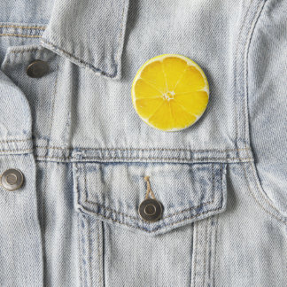 Lemon Slice Badge 2 Inch Round Button