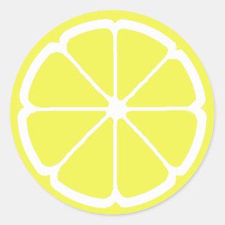 LEMON SLICE by SHARON SHARPE Classic Round Sticker