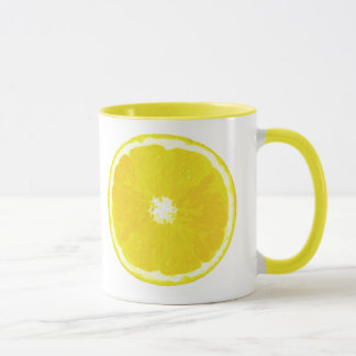 Lemon Slice Digital Painting Mug