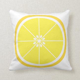 Lemon Slice Fruit Throw Pillow