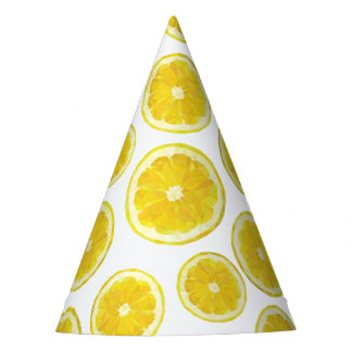 Lemon slice funny yellow fruit modern design party hat