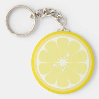 Lemon Slice Keychain