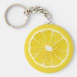 lemon slice keychains